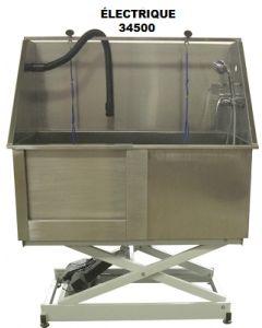 Bain de toilettage pour animaux, acier inoxydable, électrique