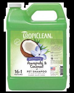 Shampoing  à l'awapuhi et noix de coco pour animaux, tropiclean 1 gallon concentré