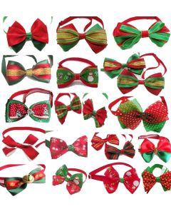 Noeud papillon rouge et vert de Noël chien chat