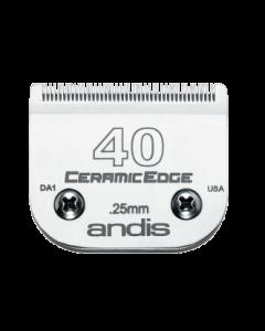 Lame ceramicEdge pour tondeuse  Andis, #40 (1/100-0.25mm)