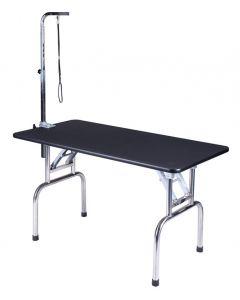 Table de toilettage transportable avec support et courroie