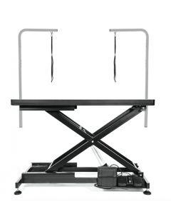 Table électrique de toilettage professionnel avec 2 poteaux et courroies, Gain Grooming