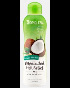 Shampoing Tropiclean pour animaux à l'avoine et au théier, 592 ml